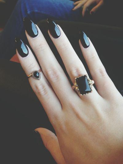 Nails Rings Always Black