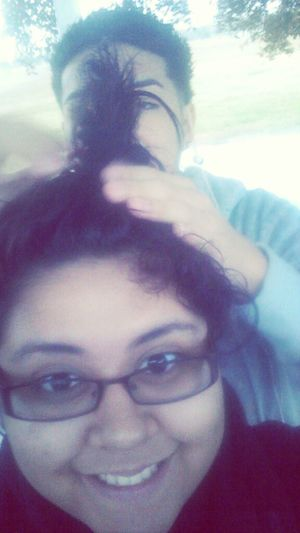 When He Plays Or Does My Hair Lolol (: