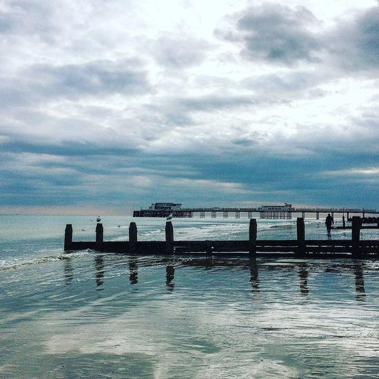 Worthing Worthingpier Worthing Beach Sea And Sky Sea Seaside Seascape Reflection Ripples Water Showcase April