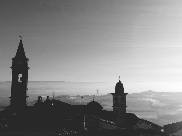 Architecture Travel Destinations History Tower Business Finance And Industry Clock Tower No People Building Exterior Sunset Cityscape Built Structure City Outdoors Urban Skyline Sky Day Clock Politics And Government Clock Face Govone (CN) Piedmont Italy Piemonte Govone Piemonte Black And White Blackandwhite