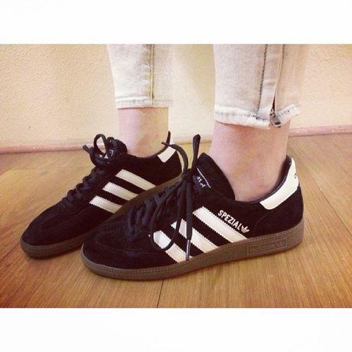 Pure perfection!.Adidas Spezial Helmutlang Adidasspezial minimal blackandwhite sneakerfreak sneakerobsession shoes love