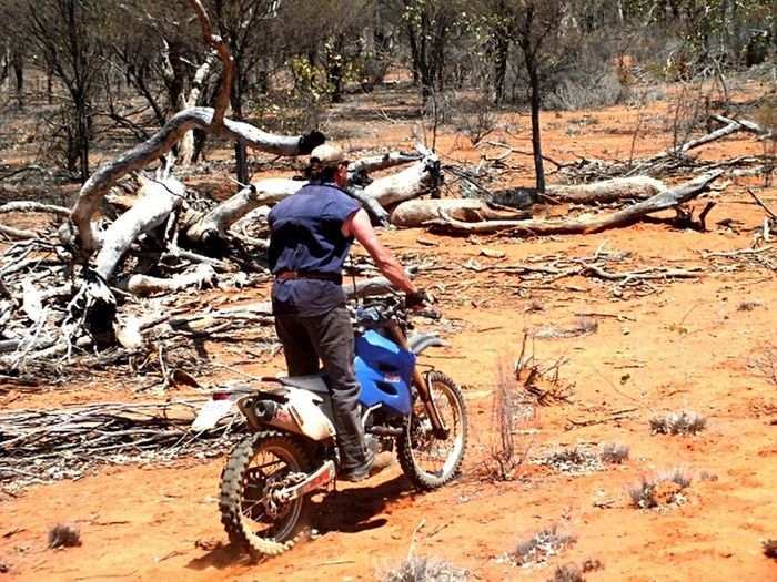 Enjoying Life Hanging Out Motorcycles Australian Outback Red Dirt
