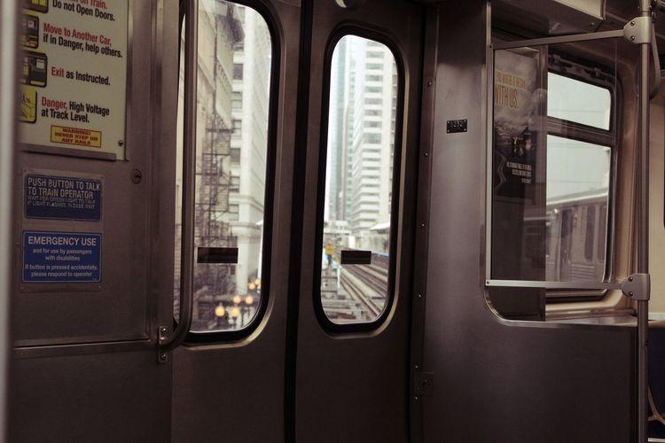 Wisdom begins in wonder. -Socrates Chicago Traffic Chicago Train Chicago Transportation Chicago Travel Close-up Day No People Train