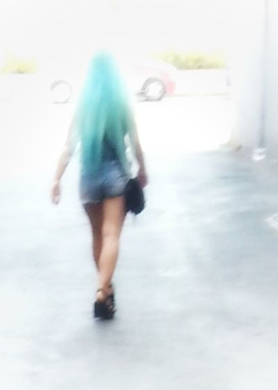 Blurred Motion Motion One Person Pastel Hair Adults Only Goth Cold Temperature Full Length People Day Dyed Hair Pale Blue Hairs Fairy Tale Little Girl Punkylicious Fantasy Look Smartphone Photography Android Photography Street Photography Note 2 Snapseeded