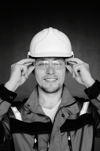 Portrait Of Engineer Wearing Hardhat