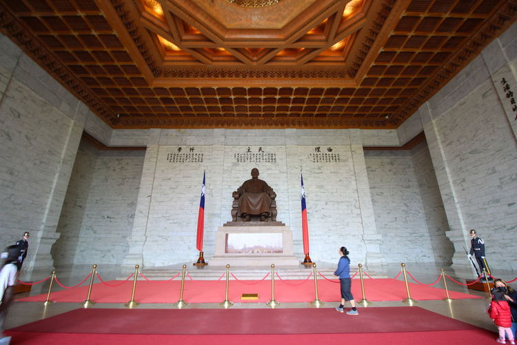 Statue in temple building