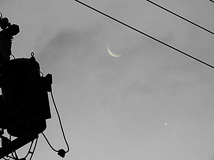 🌘🌟 お早うございます🎶😃 Goodmorning🎶(* ´ ▽ ` *)ノ ※ ☁雲多いけれど晴れ☀です( 7 ºc)Mostly Sunny ※ Morning 朝 二十六夜の月  Oldcrescentmoon 星 Star 月光 Moonlight 空 Sky 風景 Landscape 自然 Nature 日本 Japan 名古屋 Nagoya Aichi 綺麗 Beatiful 癒し Comfort 休息 Rest 安らぎpeace happiness 🌘🌟 moon_japan_nagoya_mitu