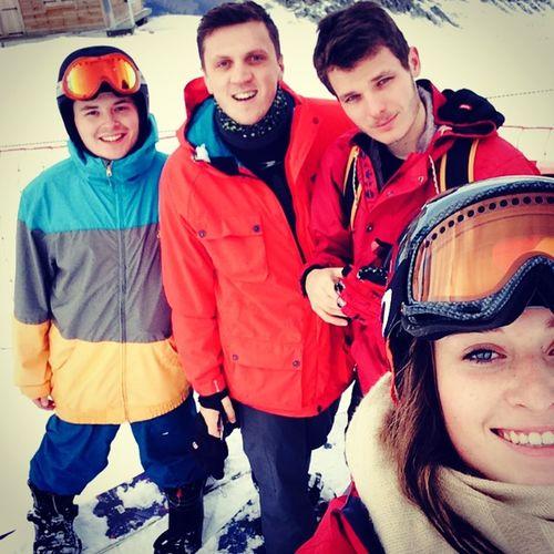 Skiing Snowboarding Snow Sun Blue Sky Ski Trip University