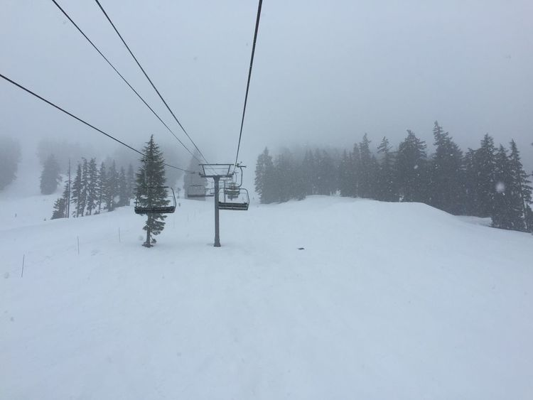 Fresh snow on the last run of the day. IPhoneography