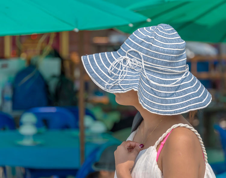 Beach Life Beach Photography Travel Travel Photography Woman Close-up Day Fashion Focus On Foreground Hat Lifestyles One Person Outdoors Real People Sun Sun Hat Tourism Summer Exploratorium