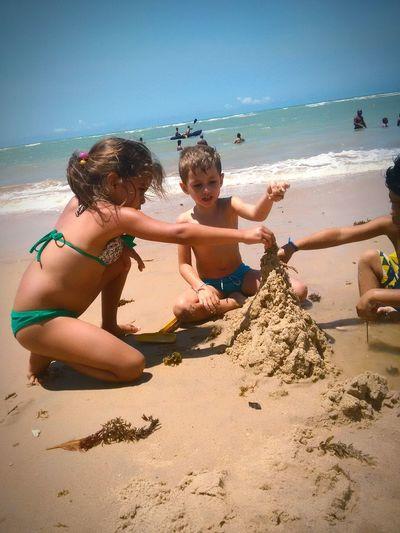 Girl Power Girlchildren Beach Nature Sea And Sky
