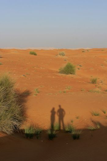 Sand Dune Sand Desert Shadow Arid Climate Landscape Two People Togetherness Adults Only Outdoors Day Summer Holiday Travel Live For The Story The Great Outdoors - 2017 EyeEm Awards Connected By Travel Summer Exploratorium Visual Creativity Capture Tomorrow