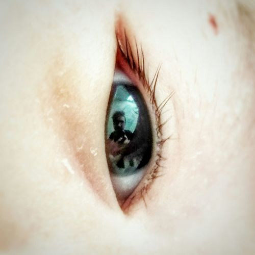 Selfie ✌ From Your Point Of View Reflection Micro Photography Eye Eye4photography  Newborn Close-up Look Into My Eyes My Love Sweety  Cute Babygirl Showcase July Fatherhood Moments