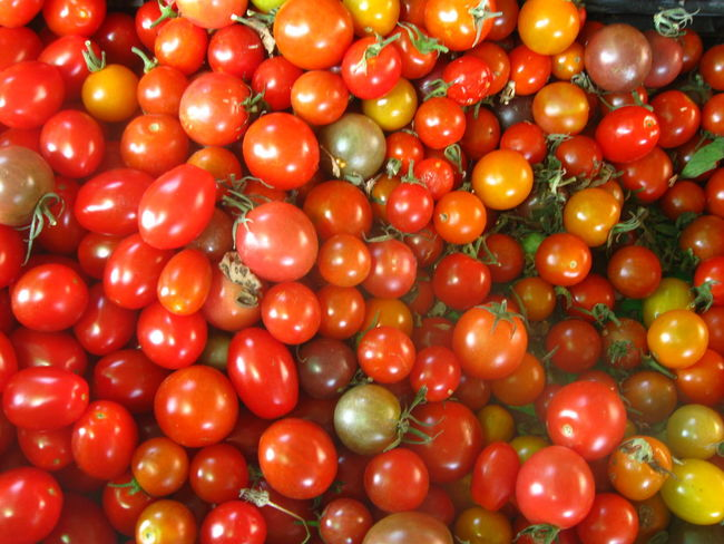 heirloom cherry tomatoes at farmers market in San Jose, california Abundance Backgrounds Cherry Tomatoes Close-up Cookbook Day Farmers Markets Food Food And Drink Freshness Fruit Full Frame Healthy Eating Heirloom Tomatoes Large Group Of Objects No People Organic Farming Organic Food Organic Gardening Outdoors Recipe Photo Red Tomatoes Visual Feast Water