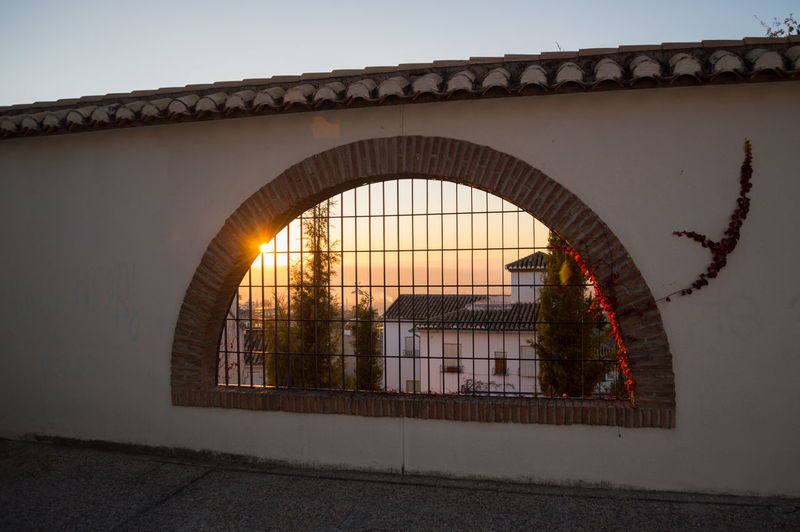 Granada Granada, Spain Andalucía Albaicin Albaycin Architecture Built Structure Sky Nature Arch Bridge No People Bridge - Man Made Structure Sunset Connection Building Exterior Outdoors Transportation Clear Sky River Day Building Wall Wall - Building Feature Reflection Arch Bridge Arched