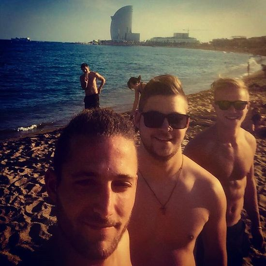 Hola Barça Barcelona Beach Hot Holidays Ilovebarcelona Best  City In Europe Sun Summer Ocean Sunglasses Picoftheday Beautiful Just Amazing