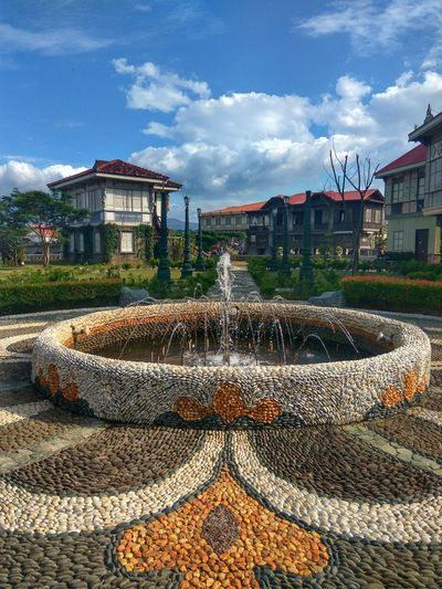 Cloud - Sky Architecture Building Exterior Built Structure Sky Outdoors Tree No People Day Heritage Site TravelPhilippines Travelphotography Tour Bataan Philippines Lascasasfilipinasdeacuzar Stone History