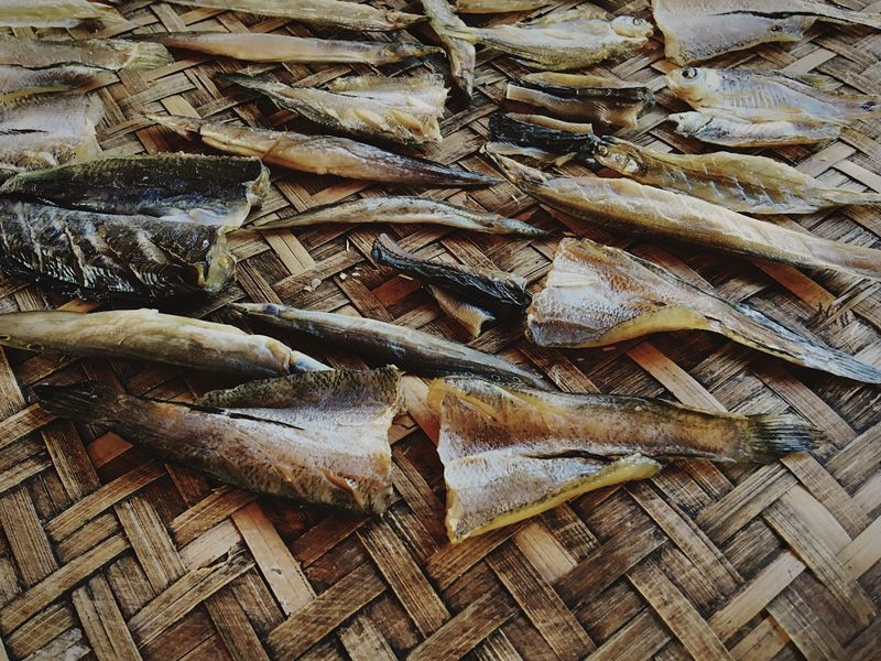 dried fish, food preservation Thailand Fish Dried Dried Fish  Preservation Food Preservation Food Full Frame Backgrounds No People High Angle View Pattern Still Life Large Group Of Objects