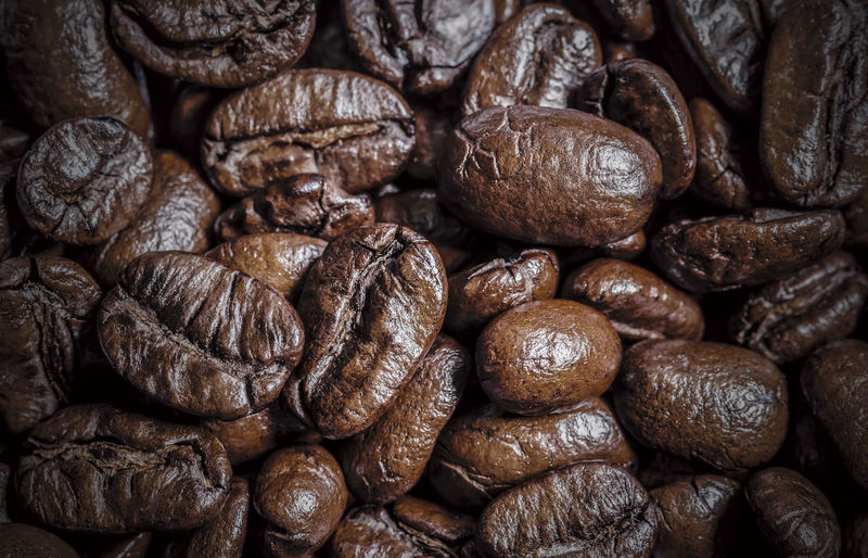 Detail shot of coffee beans