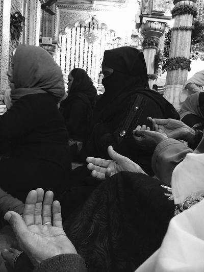 Dua Prayer Muslim Burka  IPSThirds IPSBlackWhite