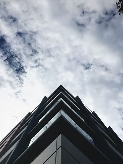 Symmetry Low Angle View Architecture Building Exterior Built Structure Sky Cloud - Sky Day No People Modern Outdoors City City Life Cityscape Perspective Building Office Building Windows Apartment Buildings & Sky Cloud Clouds Architecture Architecture_collection Australia Street Photography Art Is Everywhere EyeEmNewHere