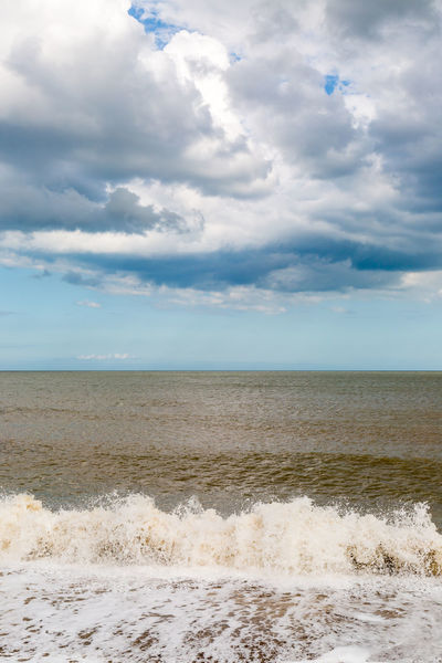 Waves and Clouds Dramatic Sky Surf Beach Beauty In Nature Cloud - Sky Clouds Day Horizon Over Water Nature No People Outdoors Sand Scenics Sea Sky Southwold Suffolk Tranquil Scene Tranquility Water Wave