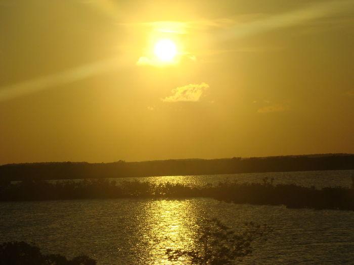 Beauty In Nature Idyllic No People Outdoors Reflection Scenics Sky Sun Sunlight Sunset Water