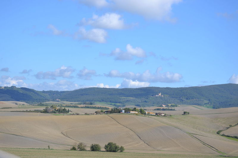 Agriculture Beauty In Nature Cloud - Sky Day Landscape Nature No People Outdoors Scenics Sky Tuscany Tuscany Countryside