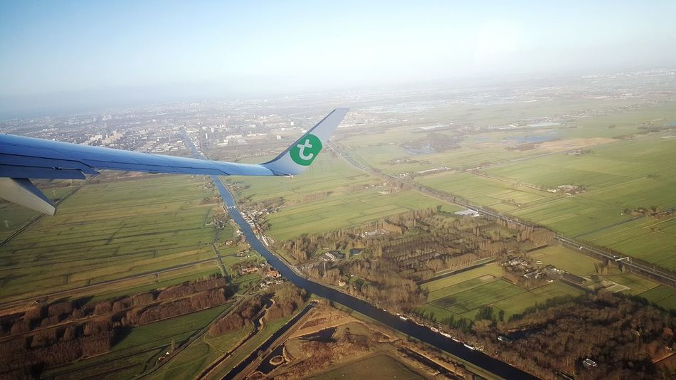 Aerial View Airplane Transportation Flying Aircraft Wing Landscape Scenics Eye4photography  Dutch Countyside Dutch Landscape Beautiful View From The Window... Flying High Taking Pictures Photography Amazing View Travel Photography Traveling Looking Through Window Commercial Airplane Agriculture Agricultural Land Agriculture Photography Dutch Landscapes Dutch Agriculture