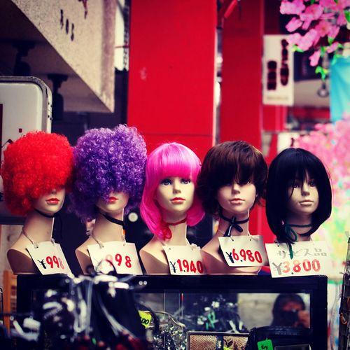 Fashion Wigs in Asakusa Tokyo Walking Around Tokyo Street Photography Streetphotography