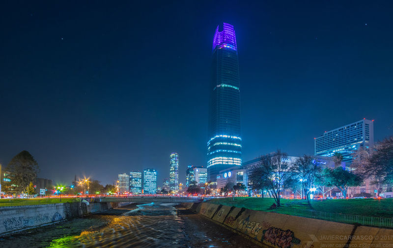 Skyline along the river Pentax Pentax K-3 Pentaxian Pentaxero Skyscraper Architecture Modern Downtown District Night Building Exterior Urban Skyline Cityscape Illuminated Development Office Building Exterior Business Finance And Industry City Life Long Exposure Outdoors Skyline DSLR Santiago Chile Panoramic Cityscape Night Out