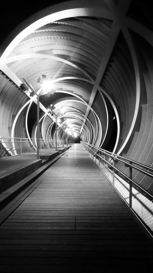 A light at the end of the tunnel? Monochrome Monochrome Plus Black And White Black & White Architecture Architecture_bw Bridgeporn