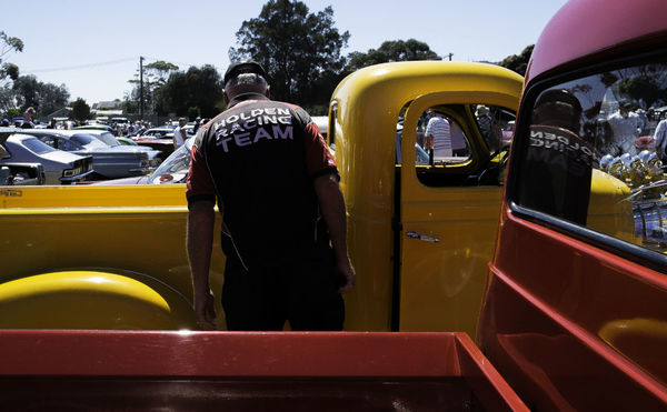 Athexphotographs Car Leisure Activity One Person Real People Rear View Standing Streetphotography Yellow