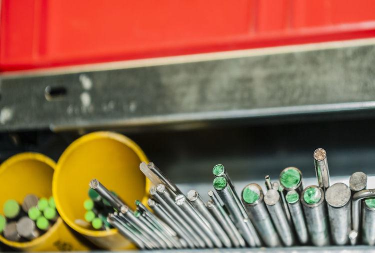 Metallic equipment in industry