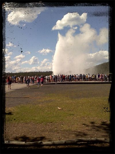 From Where I Stand Old Faithful Yellowstone Geyser
