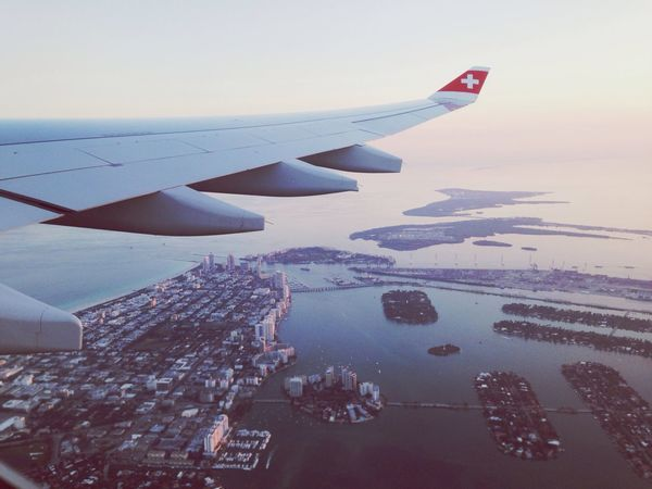 Flying Home Miami Beach South Beach View