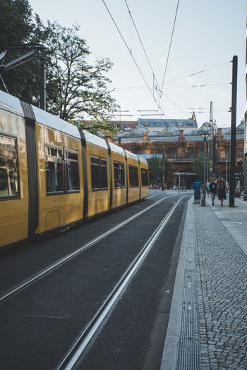 Berlin Transportation Mode Of Transportation Cable Car Railroad Track City Travel Street Berlin Germany