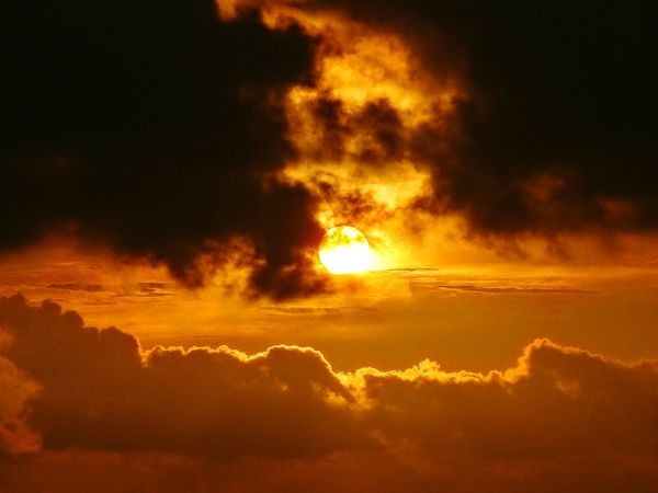 Fireball EyeEmNewHere Sunset Beauty In Nature No People Outdoors Cloud - Sky Cox's Bazar Break The Mold