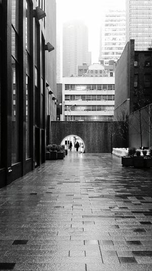 New York City Manhattan Rainy Day Architecture City Building Exterior Day Black And White