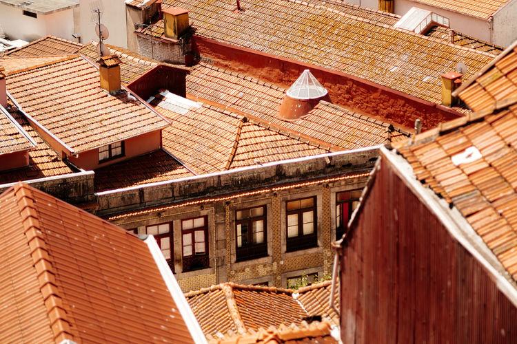 Roofs of Porto Porto Red Architecture Building Exterior Built Structure Day Fivedaysporto House No People Outdoors Residential Building Roof Roof Tile Roofs Rooftops Tiled Roof  Tiled Roofs Travel Destinations Window