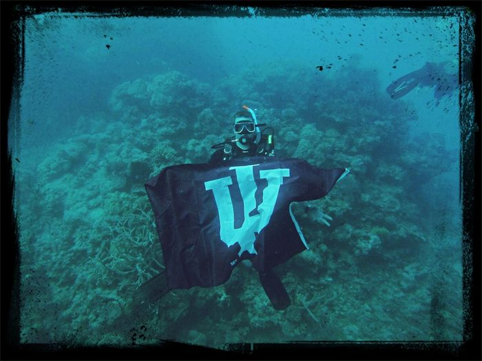 Representing IU at the Great Barrier Reef. Hoosiers!