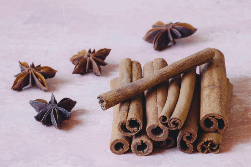 Anise Cinnamon Cinnamon Sticks Cinnamonrolls Close-up Food Food Background Foodphotography Indoors  Ingredients No People Spices Spices Collection Spices Food Spices Of The World Star Anise Sweet Food Table Wood - Material