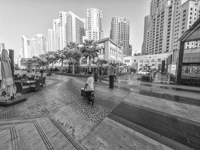 Dubai Blackandwhite GoProhero6 City Architecture Building Exterior Built Structure Outdoors Urban Skyline Day Modern Cityscape