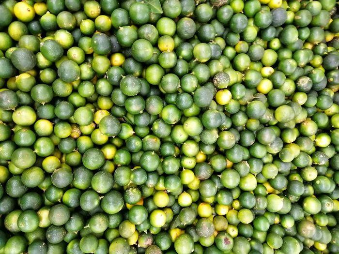 Full frame shot of green apples