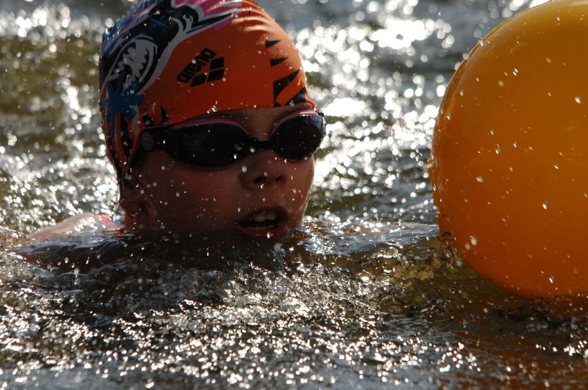 City Triathlon Weert/Netherlands Close-up Day Headshot Kids Leisure Activity One Person Open Water Swimming Outdoors People Real People Sport Swimming Swimming Pool TRIATHLON Triathlon Events Water Young Adult