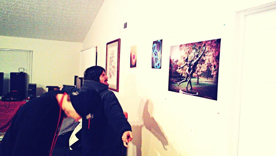 Imageartist Darrek Westerville Ohio Artstudio dudes checking out my home gallery's owner's favorites.