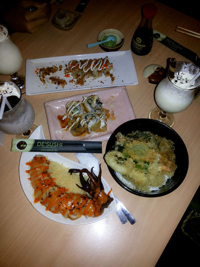Dinner 17 agust Sushi Eating Enjoying Life Wasabi
