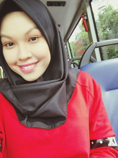 Ramadhan. Vehicle Interior Smiling Looking At Camera Ramadan  Fastingmonth Firstdayramadan Hijabgirl Red