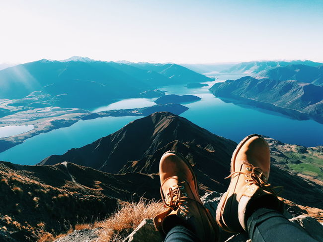 Worth The Struggle Timberland Boots Timberlands Hike Hikingadventures Mountain Range Royspeak Roys Peak Struggle Travelnewzealand Worthwhile Shoelaces Boots Blue Low Section Mountain Adventure Water Human Leg Standing Shoe Relaxation Personal Perspective Exploration Hiker Foot Wonderlust Rocky Mountains Human Foot Scenics Calm