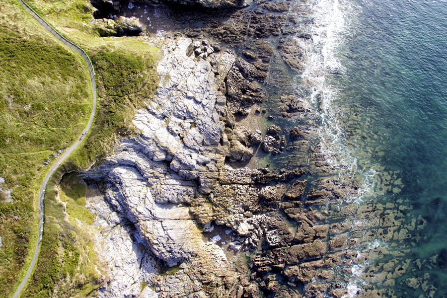 Langland Bay Rocks Coastline Drone  Langland Bay Beauty In Nature Coast Day Dronephotography High Angle View Nature No People Outdoors Rocks Scenics Sea Tranquil Scene Tranquility Water